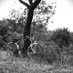 Blanc i negre. Bicicleta
